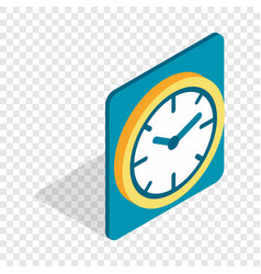 Wall color clock isometric icon vector