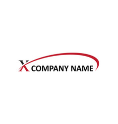 X letter swoosh logo vector
