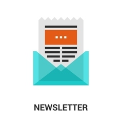 Newsletter icon concept vector