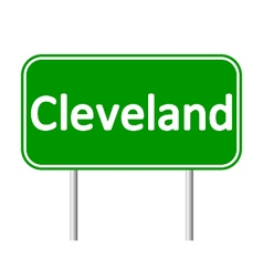 Cleveland green road sign vector