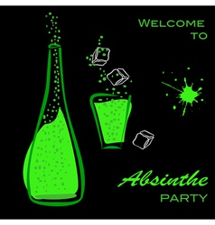 Absinthe party vector