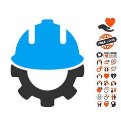 Development icon with love bonus vector