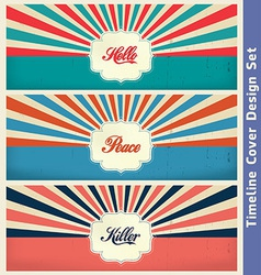 Vintage cover design template vector