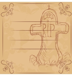Rip  headstone banner for halloween vector