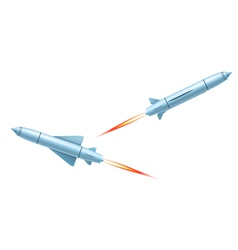 Flying cruise missiles vector image