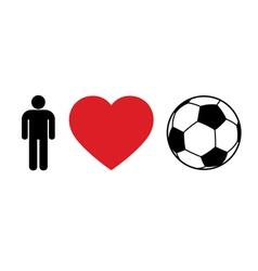 Men love football vector