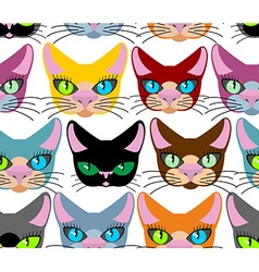 Cats seamless pattern Many different pets vector image