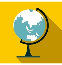 Globe icon in flat style vector