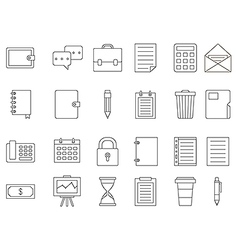 Accounting black icons set vector