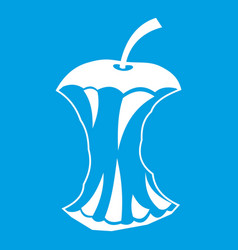 apple core icon white vector image vector image