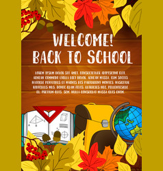 Back to school stationery poster vector