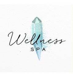 Beauty natural spa crystal vector