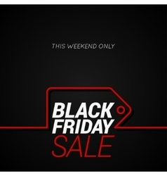 Black Friday sale tag concept line background vector image