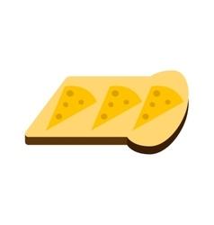 Breakfast sandwich white bread toast vector image