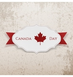 Canada day sign on realistic badge vector