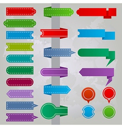 Collection of colorful ribbon icons vector image vector image