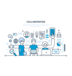 concept of cooperation partnerships teamwork vector image vector image