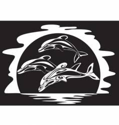 dolphins a print vector image