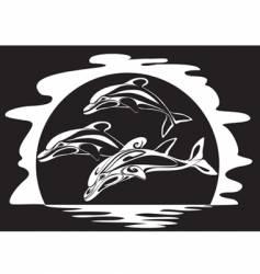 Dolphins a print vector