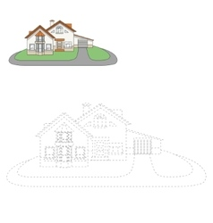 Draw house vector
