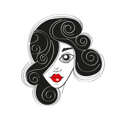 fashion girl portrait vector image