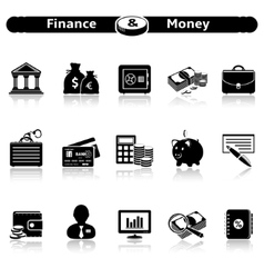 Finance Money Icons vector image vector image