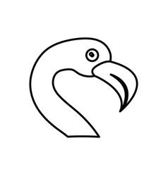 flamingo bird icon vector image vector image