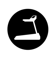 gym treadmill machine icon vector image