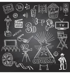 Hand drawn cinema vector image