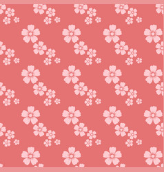 hand drawn pink flower seamless pattern sketch vector image vector image