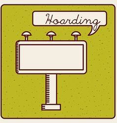 hoarding icon vector image