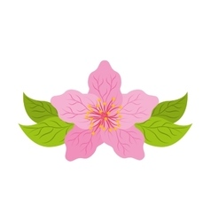 japanese plant nature isolated icon vector image vector image