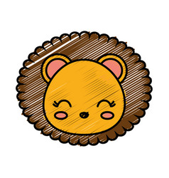 Kawaii animal icon vector