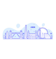 London skyline england uk city buildings vector