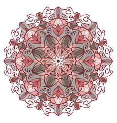 Mandala in pastel colors for backgrounds logos vector