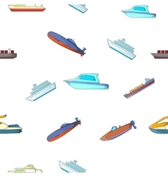 Maritime transport pattern cartoon style vector