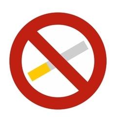 No smoking icon flat style vector image