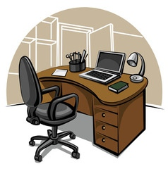 office work place vector image