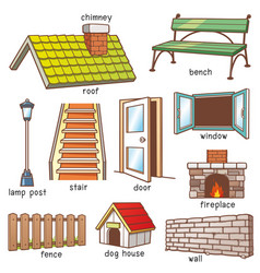 Parts of house vector