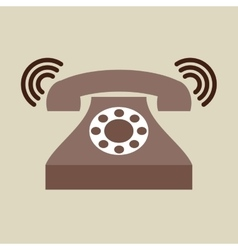 Phone classic ring vector