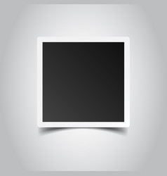 Photo frame on gray background for your vector