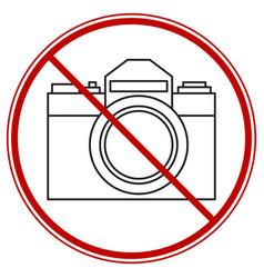 Photographing forbid symbol vector