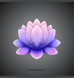 Polygonal Lotus Purple pink gradient vector image