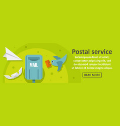 postal service banner horizontal concept vector image