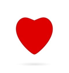 Red Heart Icon isolated on white vector image vector image