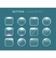 Round and square buttons vector image vector image