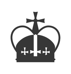 royal crown icon vector image