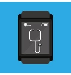 Smartwatch device health stethoscope vector