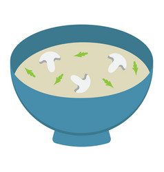 soup flat icon food and drink bowl sign vector image vector image