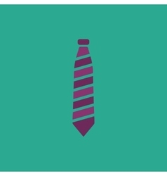 Striped necktie icon vector